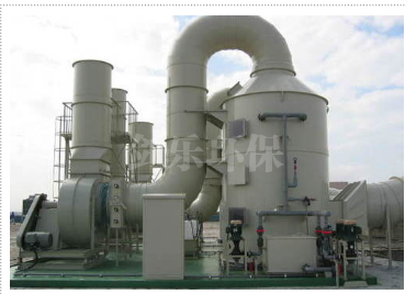 Acid and alkali waste gas treatment